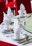 Chinese dining table setup Royalty Free Stock Images