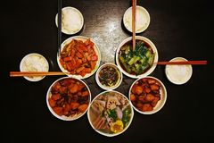 Free Chinese Dinner For Four Families Royalty Free Stock Photos - 107126938