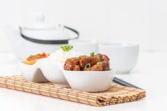 Chinese Dinner Honey Garlic Ribs Royalty Free Stock Photo