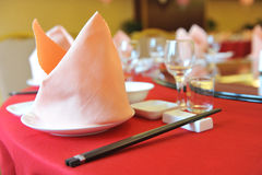 Chinese dinner table Royalty Free Stock Photo