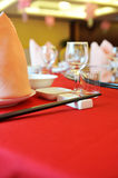 Chinese dinner table Royalty Free Stock Photos