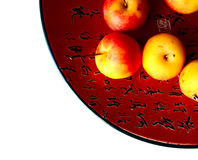 Chinese dish with apples Stock Photos