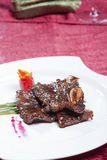 Chinese dish, black pepper steak Stock Photo