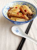 Chinese dish chicken in wine & herbs Royalty Free Stock Photos