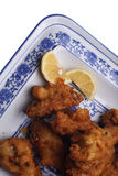 Chinese dish. Chinese food. Fried chichen wings Royalty Free Stock Photography