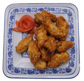 Chinese dish. Chinese food. Fried chichen wings Royalty Free Stock Image
