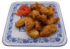 Chinese dish. Chinese food. Fried chichen wings Royalty Free Stock Photo