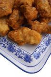 Chinese dish. Chinese food. Fried chichen wings Royalty Free Stock Photos