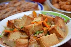 Chinese dish, fried tofu Stock Image