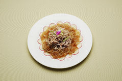 Chinese Dishes Crispy Jellyfish And Shredded Meat Stock Image