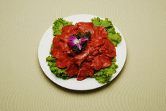 Chinese Dishes Fried Beef Royalty Free Stock Photos