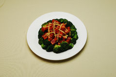 Chinese Dishes Fried Broccoli With Meat Royalty Free Stock Photos