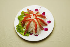 Chinese Dishes Fried Chinese Cabbage With Shrimps Royalty Free Stock Photography