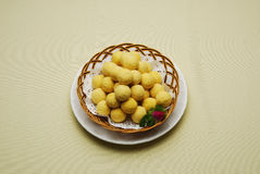 Chinese Dishes Fried Yam Balls Stock Photos