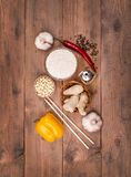 Chinese dishes are most popular around the world. Some sorts of cuisine are Anhui, Cantonese, Fujian, Hunan, Jiangsu, Shandong, Sichuan, and Zhejiang Stock Photography