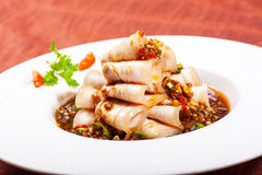 Chinese dishes. Sliced ��pork Stock Photo