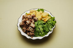 Chinese Dishes Stewed Meat With Potato And Green B Royalty Free Stock Images