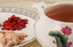 Chinese dishes.-03. Chinese traditional health preserving soup - Bazhen Decoction Stock Photos