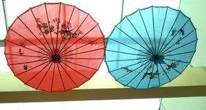 Chinese document paraplu - Kunstenparaplu Stock Foto's