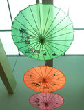Chinese document paraplu - Kunstenparaplu Royalty-vrije Stock Foto's