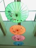 Chinese document paraplu - Kunstenparaplu Royalty-vrije Stock Afbeeldingen