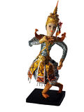 Chinese doll isolated on white Royalty Free Stock Images