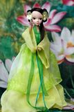 Chinese doll playing taichi Royalty Free Stock Photography