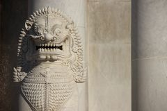 Marble Lion And Marble Walls stock image