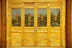 Chinese door. Chinese traditional wooden door,its very exquisite design Royalty Free Stock Image