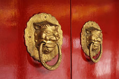 Chinese door Royalty Free Stock Image