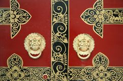 Chinese door decoration Royalty Free Stock Photography