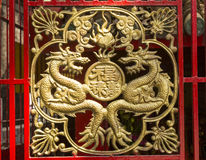 Chinese door decoration Royalty Free Stock Images