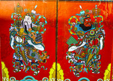 Chinese Door God Stock Photo