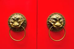 Chinese door handle Royalty Free Stock Image