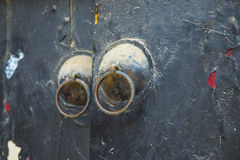 The chinese door handle shabby Stock Images