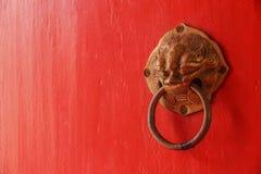 Chinese door knob Stock Photography
