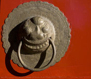 Chinese door knocker Stock Photography