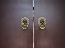 Chinese Door Knocker. A traditional chinese door knocker Royalty Free Stock Photo