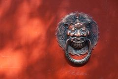 Free Chinese Door Knockers Royalty Free Stock Photo - 101649745