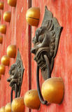 Chinese door knockers Stock Image