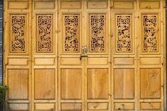 Chinese door in old style Royalty Free Stock Image