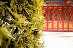 Chinese door in the park stock image