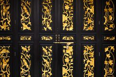 Chinese Door Pattern Stock Images