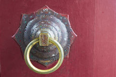 Chinese door ring Stock Photography