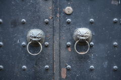 Chinese doorknobs. With dragon faces Stock Photography