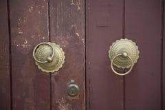 Chinese doorknockers Stock Photo