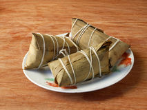 Chinese Double Fifth Festival sticky rice dumplings Stock Photography