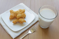 Chinese doughnut and soy milk Stock Image