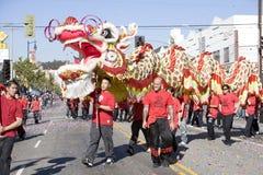 Chinese Draak 8 van de Parade van het Nieuwjaar Stock Afbeelding