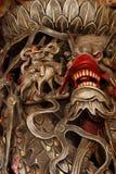 Chinese draak op de pijler van de tempel. Stock Afbeeldingen